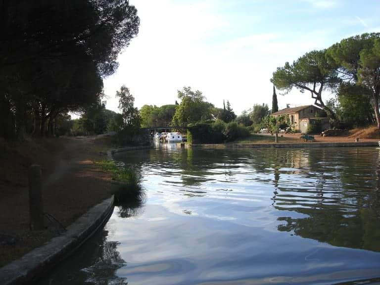 Jonction du Canal du midi et l'Aude